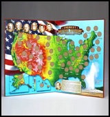 USA Quaters map